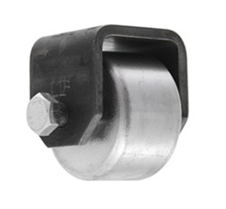 "Ultra-Fab Steel Mini-Roller for Trailers and RVs - Weld On - 1-1/2"" Wide x 2-1/2"" Tall"