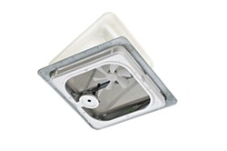 "Ventline Ventadome Roof Vent w/12V Fan and Wall Switch - Powered Lift - 14-1/4"" - White"