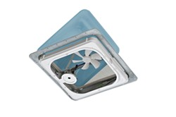 "Ventline Ventadome Roof Vent w/12V Fan and Wall Switch - Powered Lift - 14-1/4"" - Smoke"