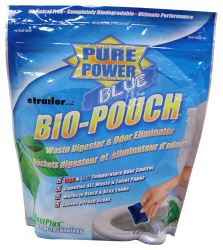 Pure Power Blue Treatment for RV Holding Tanks - Fresh Clean Scent - Drop In Pouches - Qty 12