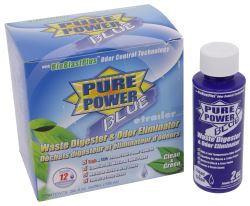 Pure Power Blue Treatment for RV Holding Tanks - Fresh Clean Scent - 4 oz Bottle - Qty 6