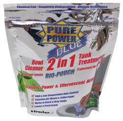 Pure Power Blue 2-in-1 Bowl Cleaner and Tank Treatment - Drop-Ins - Qty 10