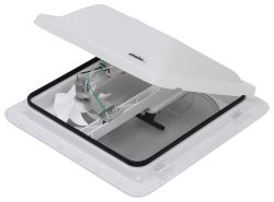 Ventline E-Z Lift Ventadome Trailer Roof Vent w/ 12V Fan - Manual Lift - White - Canada Approved