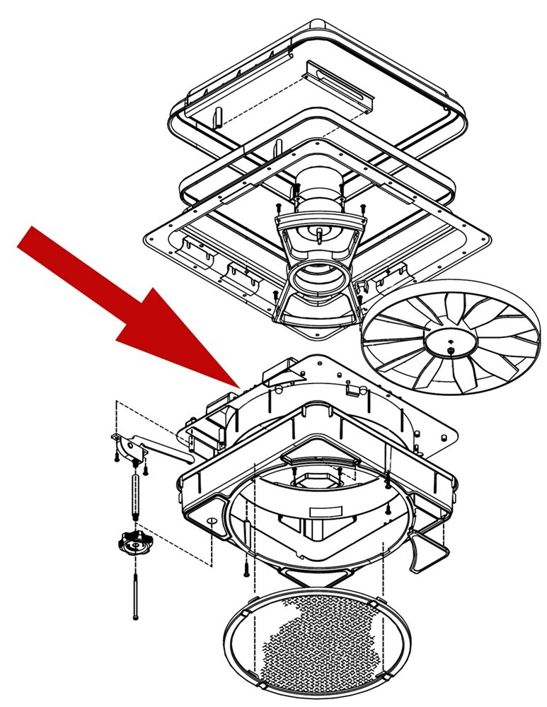 replacement housing for ventline northern trailer roof vents ventline accessories