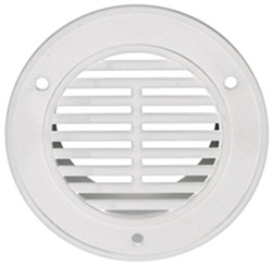 "Replacement Round Interior Trailer Vent for 3"" Diameter Hole - White"