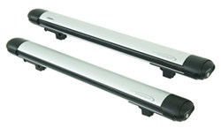 Whispbar Locking Rooftop Ski and Snowboard Carrier - 6 Skis or 4 Boards - Silver