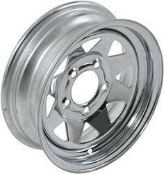 "Redline Trailer Wheel - 14"" x 6"" Rim - 5 on 4-1/2 - Chrome"