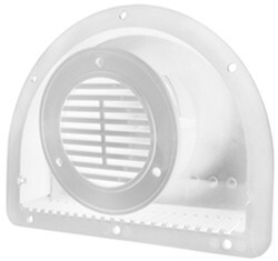 "2-Piece Polypropylene Trailer Vent for 3"" Diameter Hole - White"