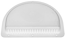 "Replacement Exterior Half-Moon Trailer Vent for 3"" Diameter Hole - White"