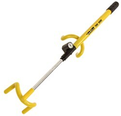 The Club Twin Hooks Vehicle Steering Wheel Lock - Chromoly Steel - Yellow