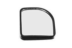 "Wheel Masters Convex Blind Spot Mirror - Stick On - 3-1/4"" Square - Black - Qty 1"
