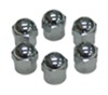 Wheel Masters Valve Stem Caps - Nickel-Plate Brass - Qty 6