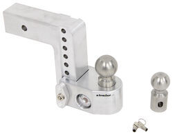"Weigh Safe 2-Ball Mount w/ Built-In Scale - 2-1/2"" Hitch - 6"" Drop, 7"" Rise - 14.5K"
