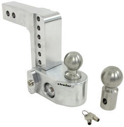 "Weigh Safe 2-Ball Mount w/ Built-In Scale - 2"" Hitch - 6"" Drop, 7"" Rise - 10K"