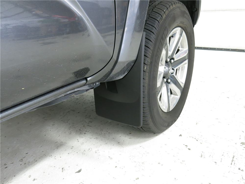 2016 toyota tacoma weathertech mud flaps - easy-install  no-drill  digital fit