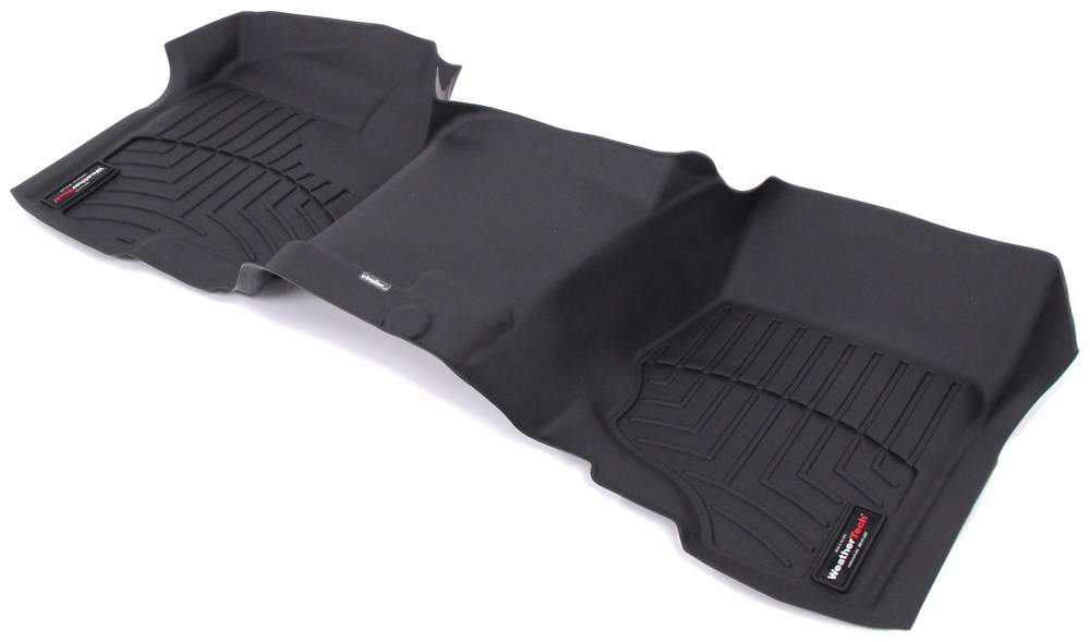 Weathertech Front Auto Floor Mat Single Piece Black