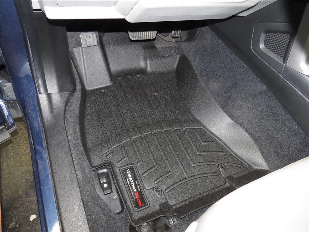 weathertech front auto floor mats black weathertech. Black Bedroom Furniture Sets. Home Design Ideas