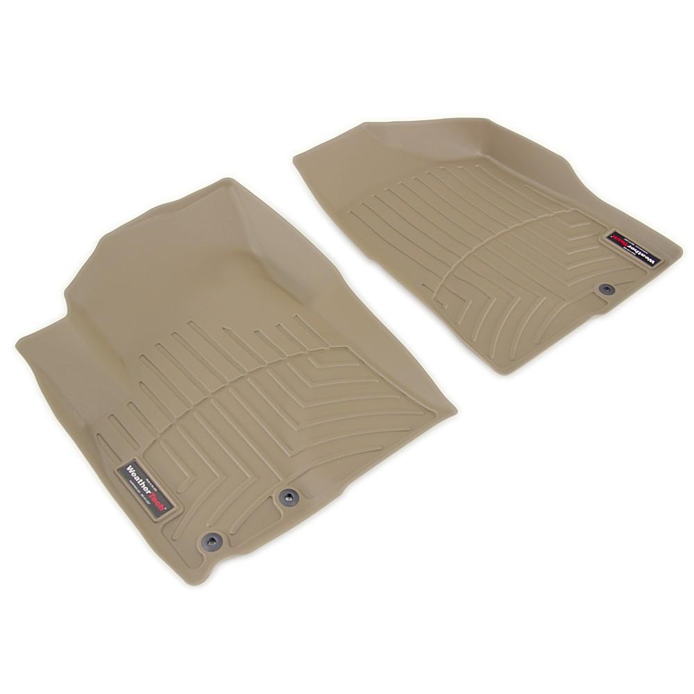 Weathertech front auto floor mats tan weathertech floor for Auto flooring