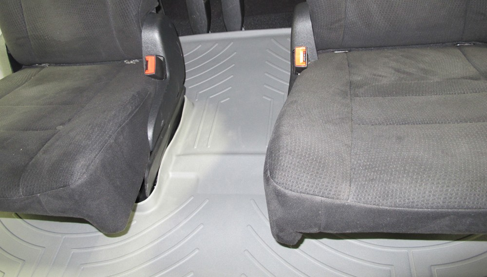 Weathertech 2nd And 3rd Row Rear Auto Floor Mat Gray