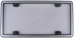 WeatherTech ClearCover License-Plate Frame with Cover - Brushed Stainless