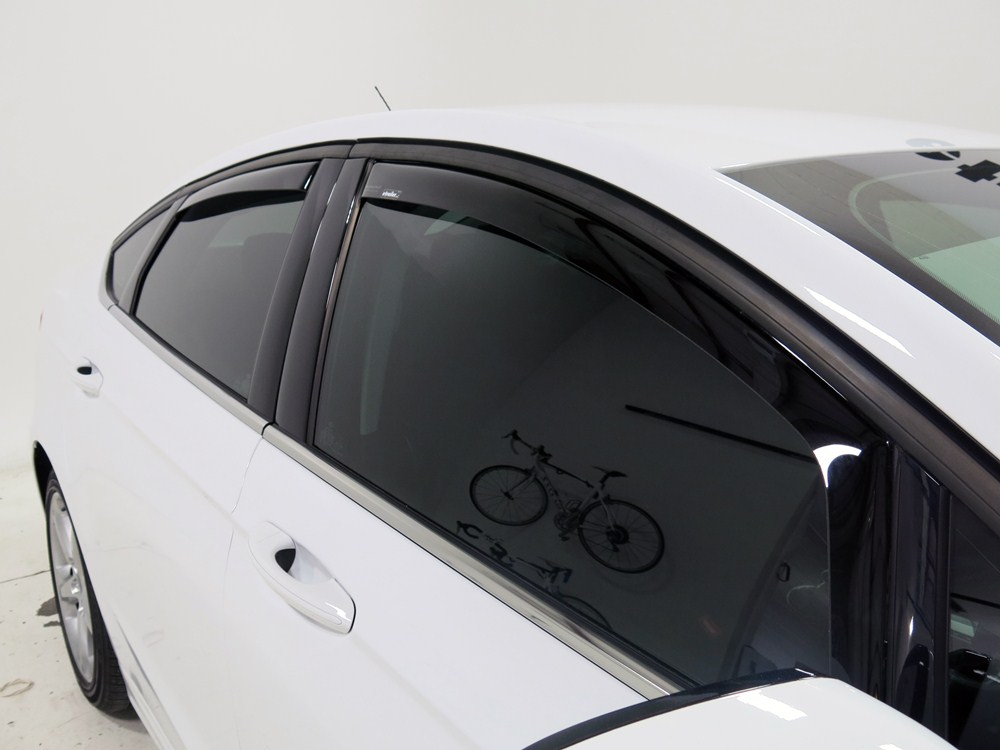 Weathertech side window air deflectors with dark tinting