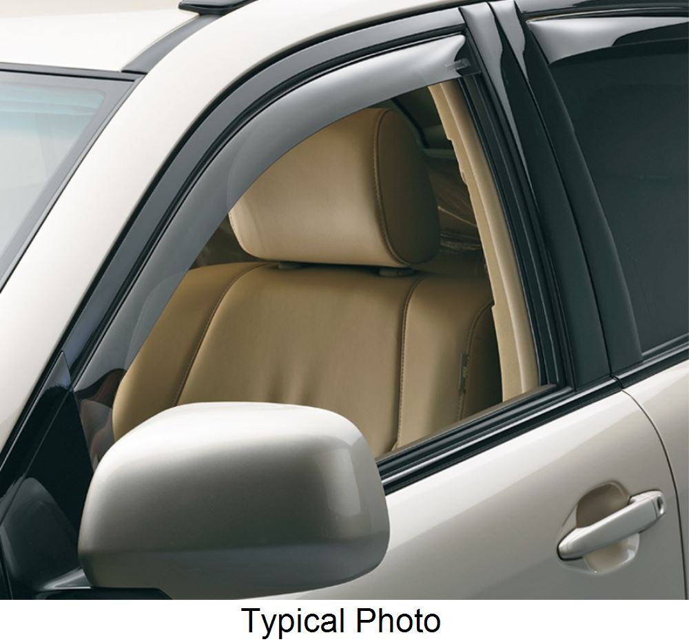 Weathertech side window air deflectors with dark tinting for 1996 honda accord rear window visor