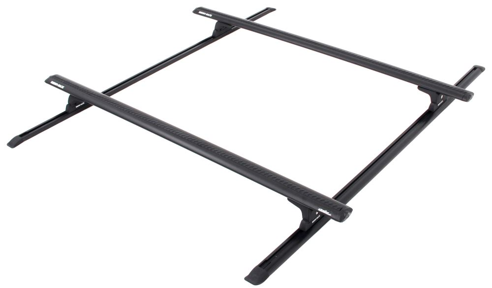 rhino-rack roof rack system w   2 vortex aero crossbars - track mount - black