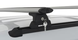 "Rhino-Rack Roof Rack System w/ 2 Vortex Aero Crossbars - Track Mount - Black - 59"" Long"