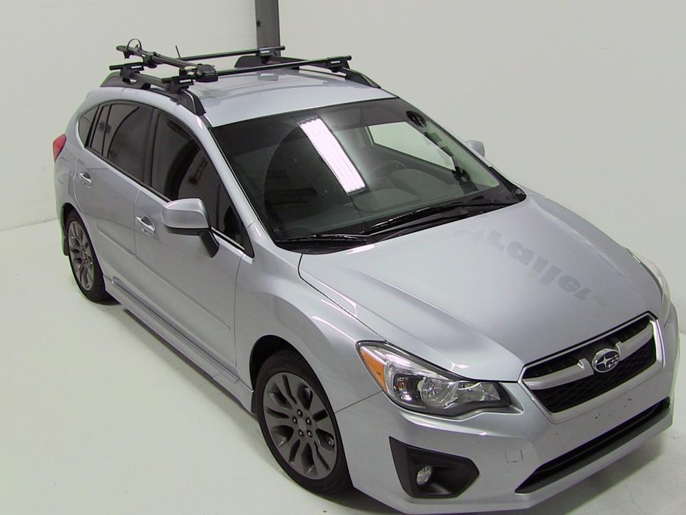 2008 Subaru Impreza Yakima Forklift Roof Mounted Bike