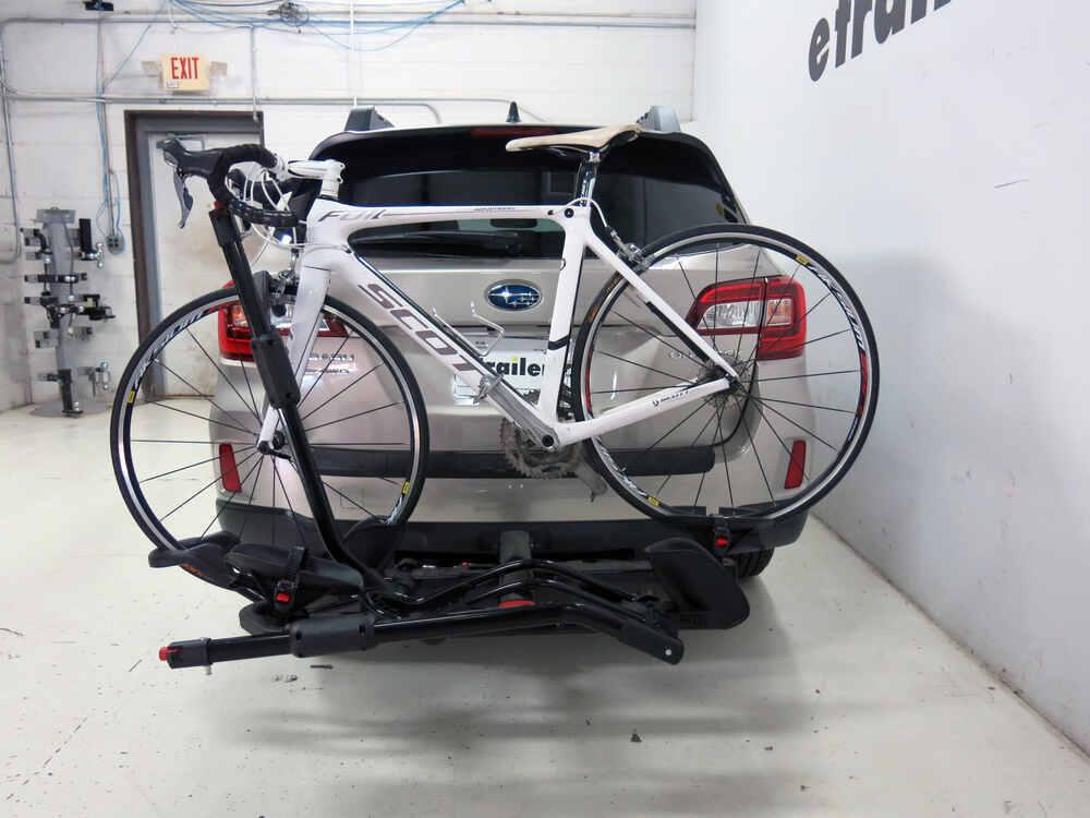 subaru outback wagon yakima holdup  bike rack   hitches platform style tilting