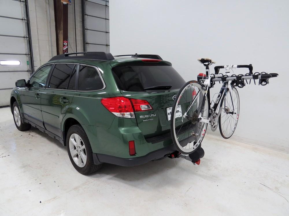 subaru outback wagon yakima ridgeback  bike rack     hitches tilting