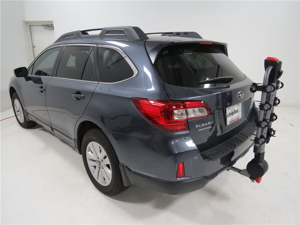 2012 subaru outback wagon yakima ridgeback 4 bike rack 1 1 4 and 2 hitches tilting. Black Bedroom Furniture Sets. Home Design Ideas