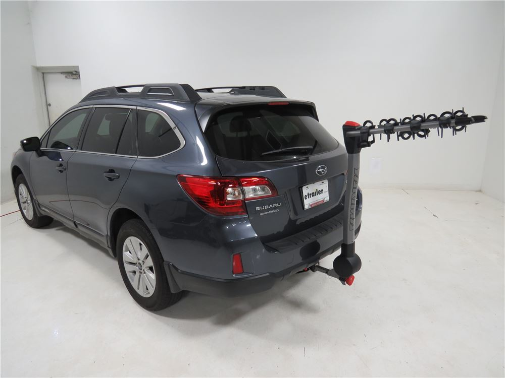 2010 subaru outback wagon yakima ridgeback 4 bike rack 1 1 4 and 2 hitches tilting. Black Bedroom Furniture Sets. Home Design Ideas