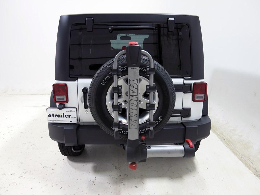 2013 jeep wrangler unlimited yakima swingdaddy 4 bike rack. Black Bedroom Furniture Sets. Home Design Ideas
