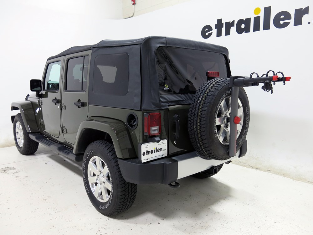 2010 Jeep Wrangler Unlimited Spare Tire Bike Racks Yakima