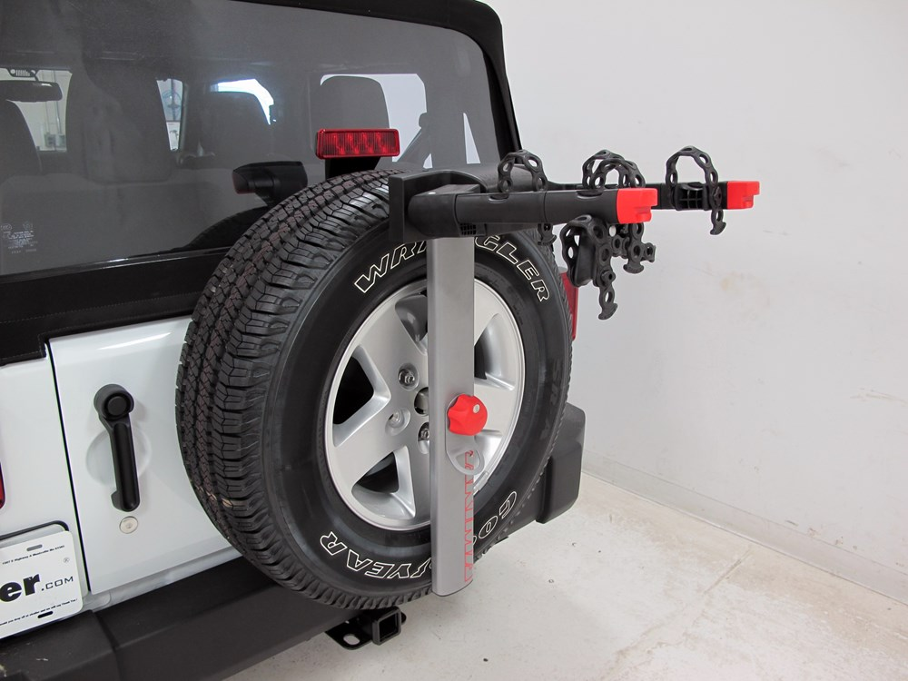 2016 jeep wrangler yakima sparetime 2 bike carrier spare. Black Bedroom Furniture Sets. Home Design Ideas