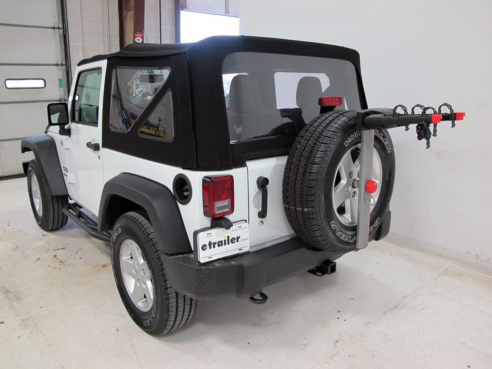 2015 jeep wrangler yakima sparetime 2 bike carrier spare. Black Bedroom Furniture Sets. Home Design Ideas
