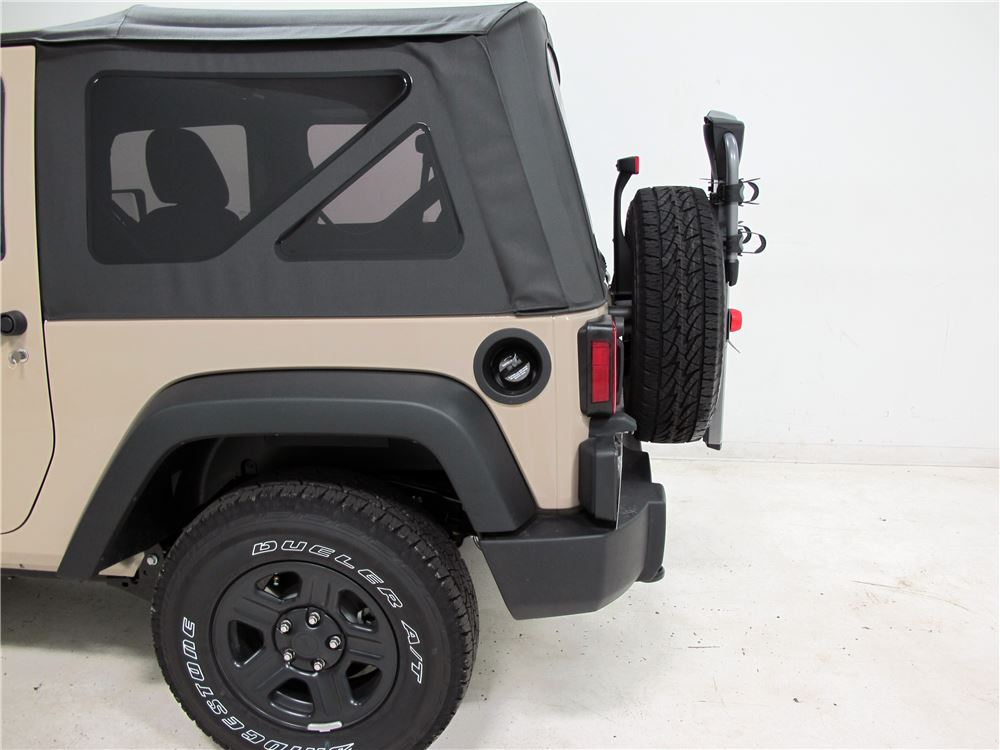 jeep wrangler yakima spareride 2 bike rack spare tire. Black Bedroom Furniture Sets. Home Design Ideas