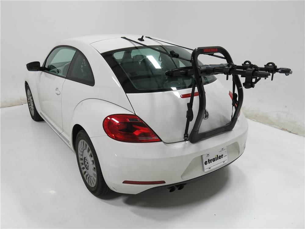 2012 Volkswagen Beetle Yakima FullBack 2 Bike Rack - Trunk Mount - Adjustable Arms