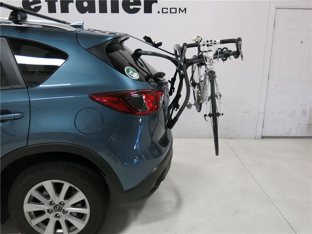 2015 Mazda Cx 5 Yakima Halfback 2 Bike Rack Trunk Mount Adjustable Arms