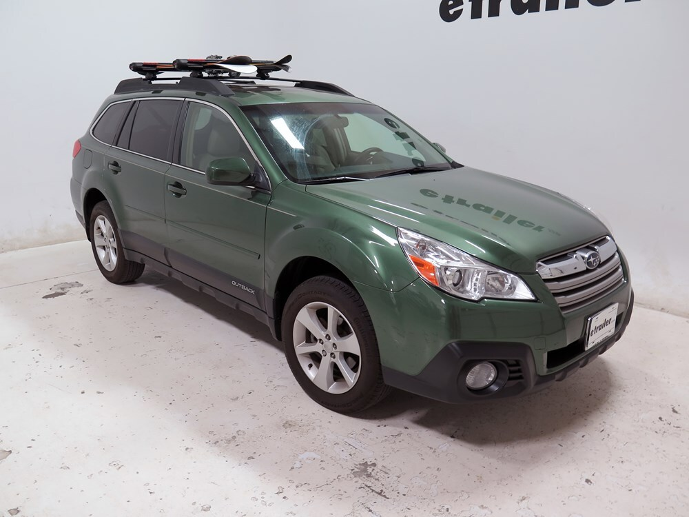 2005 subaru outback wagon yakima fatcat 6 locking rooftop ski and snowboard carrier 6 skis or. Black Bedroom Furniture Sets. Home Design Ideas