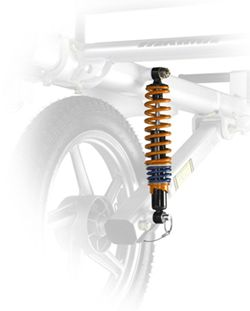 Heavy Duty Shocks for Yakima Rack and Roll Trailer