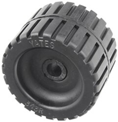 "Yates Ribbed Wobble Roller - Heavy-Duty Rubber - 4-3/8"" Diameter - 5/8"" Shaft"