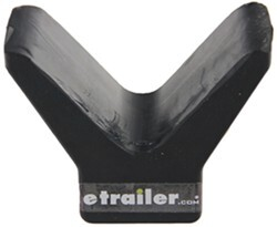 "Yates Y-Style Bow Stop for Boat Trailers - Heavy-Duty Rubber - 4"" Span - 3/8"" Shaft"
