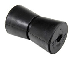 "Yates V Keel Roller for Boat Trailers - Super-Heavy-Duty Rubber - 5"" Long - 1/2"" Shaft"