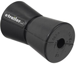 "Yates V Keel Roller for Boat Trailers - Super-Heavy-Duty Rubber - 5"" Long - 5/8"" Shaft"