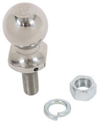 "1-7/8"" Hitch Ball - 3/4"" Diameter x 2-1/8"" Long Shank - Stainless Steel - 2,000 lbs"
