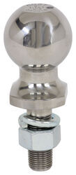 "Hitch Ball with 2"" Diameter and Med Length Shank, 3,500 lbs GTW - Stainless Steel"