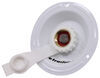 Valterra Water Inlet for RVs - Metal Recessed Flange - White 1/2 In FPT x Recessed Flange A01-0176LFVP