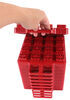 "Stackers Leveling Blocks w/ Bag for Trailers and RVs - 1-3/8"" x 8-1/8"" - Qty 10 Red A10-0920"